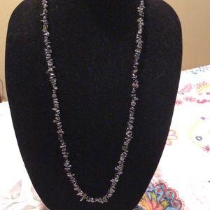 Handmade hematite strand necklace